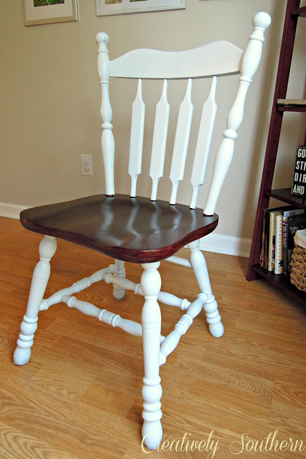 Diy Dining Chairs Makeover Modern White Leather Office Chair 2 Room Creatively Southern